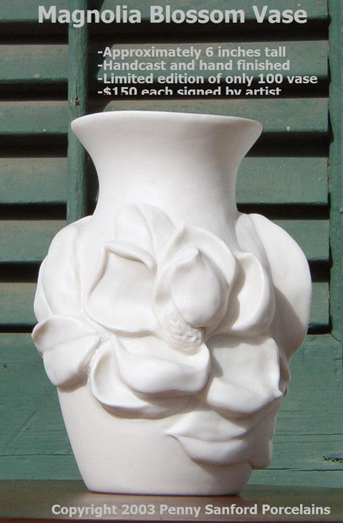 Magnoliablossomvase