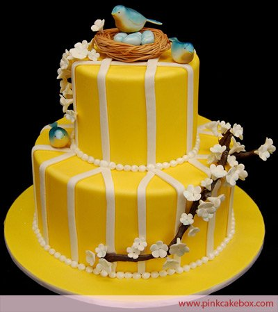 Penny Sanford Designs Happy Yellow Birthday Cake