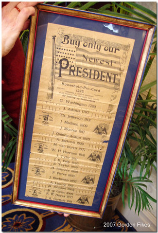 Presidentneedlespincard