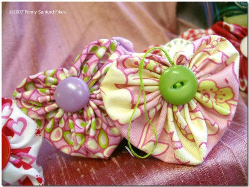 Heather Bailey Fabric Heart YoYo's