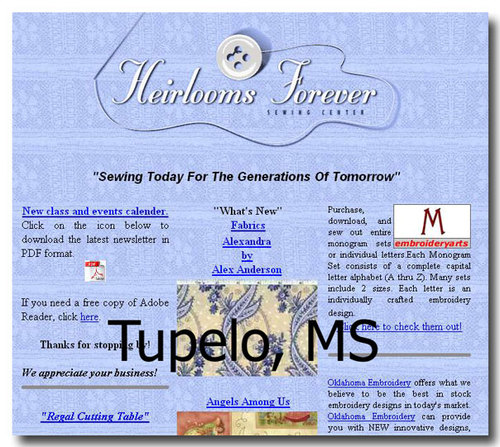 Tupelo, MS:  Heirlooms Forever