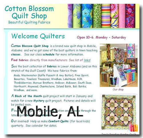 Mobile, AL: Cotton Blossom Quilt Shop
